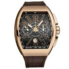 Franck Muller Men's Vanguard Gold Chronograph Automatic Watch 45CCGLDBRNGLD1