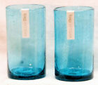 Aqua Bubble Glass Tumble Drink Glass by TAG Set of Two 18 oz FREE SHIPPING