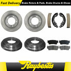Fits 1996 1997 Geo Tracker Brake Rotors  Brake Drums Ceramic Pads  Brake Shoes