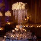 SILVER METAL 30 tall Faux Crystal Beaded Centerpiece Wedding Party Decorations