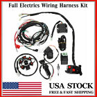 Full Electrics Wiring Harness Wire Loom CDI Stator Kit For GY6 150CC ATV Quad US