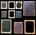 LOT CASES  PARTS FOR REPAIRING TINTYPES AMBROTYPES  DAGUERREOTYPES AS IS