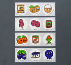 Vintage CTP Glossy Sniffys Scratch  Sniff Stickers 4 Strip Lot A