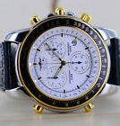 Sector No Limits Uhr Watch ADV 1000 Alarm Chrono Date white Dial NOS 39,5mm