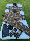 IST 2 piece Camo Freediving spearfishing Wetsuit W gloves size S New FREESHIP