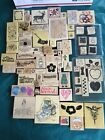 Huge Lot of 75+ Wooden Rubber Stamps Stamping STAMPIN UP and others