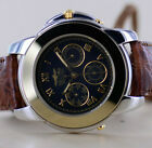 Sector No Limits Uhr Watch ADV 2000 Day Date black 40 mm NOS Bi-Color Stahl Gold