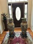 Pair of large Chinese Rose Medallion Vases with stands