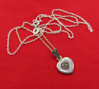 Vintage Sterling Silver Necklace MOP Mother Pearl Marcasite Heart Pendant 495m