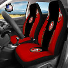 USA Set Of Two San Francisco 49ers Car Seat Covers Universal Auto Seat Protector