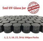 UV Glass Jar 5ml Ultra Violet Container Airtight BPA free Lid Silicone Gasket