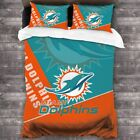 Miami Dolphins 3PCS Bedding Set Duvet Cover Pillowcase Comforter Cover Fans Gift