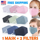 Kids Cotton Face Mask Reusable Washable outdoor Fabric Cover Child boys girls