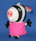 TY ZOE ZEBRA BEANIE BABY (PEPPA PIG) - MINT with MINT TAG - UK EXCLUSIVE