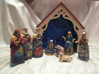 Jim Shore Mini Nativity Away in a Manger Nine Pieces MIB 2013