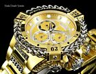 NEW 52MM Invicta RESERVE Bolt HERCULES GOLD Dial ALL Gold Tone Bracelet Watch 1