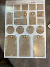 Tumblebeasts Light Brown Wash Tags Scrapbook Cardstock Stickers NEW