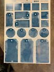 Tumblebeasts Star Blue Wash Tags Scrapbook Cardstock Stickers NEW