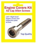 Stainless A2 Cap Allen Engine Covers Kit - Yamaha RD80LC