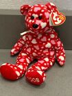 Ty Beanie Babies Hearts-A-Flutter Extra Heart behind tag, Swing Tag Error