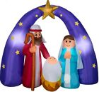 CHRISTMAS 65 FT NATIVITY SCENE JESUS MIXED MEDIA AIRBLOWN INFLATABLE YARD GEMMY