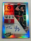 TRAE YOUNG AUTO ROOKIE 2018-2019 PANINI CONTENDERS OPTIC SILVER AUTOGRAPH HAWKS