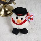 VTG Puffkins Holiday Flurry Snowman Beanie Plushie Stuffed Animal Collector