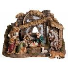 josephs studio by roman 10 piece nativity set with stable includes holy famil