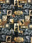Halloween Gothic Macabre Spooky Images Winged Skeleton Spiders Bats Fabric BTHY