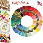 300X 8M-100-Multi-Color Cross Stitch Floss Cotton Thread Embroidery Sewing Skein