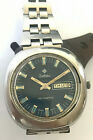 Vintage Zodiac Automatic Swiss day/date stainless steel mens watch, cal. 76