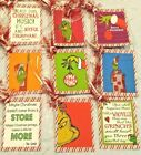 9 Christmas Grinch Gift Hang Tags Scrapbooking Card Craft Party Favors