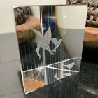 Kosta Boda Vicke Lindstrand Signed Triangular Glass Paperweight Birds in a Cage