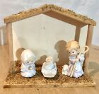 Avon Heavenly Blessings Nativity Collection 1986 Set of 3 With Stable