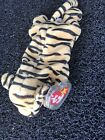 Ty Beanie Baby Stripes the Tiger DOB June11, 1995 MWMT