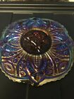 Vintage Indiana Glass Iridescent Red Carnival Glass Serving Medallion Plate