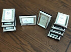 Lot of 9 Small Silver Color Picture Frames For Photo 2x3