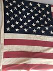 True Vintage American Flag 50 Stars 36x60 Cotton Distressed Tattered Props Rare