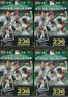 (4) 2019 Topps MLB Sticker Collection Baseball 40stickers+Poster BLASTER Box LOT