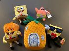 Spongebob Ty Lot of 4 character Beanies plus Pineapple Home Beanie w/ Tags