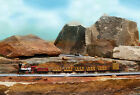 N Scale Thunder Mine Ride 5 LINKED Open Side Old West Excursion Cars Set