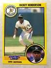 1991 Rickey Henderson Oakland A's Kenner Starting Lineup card