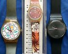 Vintage Swatch Watches (3) A pair of 755 CIRCA 1987 & 223 NEW BATTERIES NEEDED
