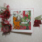 Christmas Paper Bag Scrapbook Photo Album 10 pages + cover Hello December