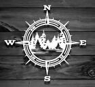 COMPASS TREES LAKE Vinyl Decal Sticker for Jeep Car Truck Bumper Wall Window