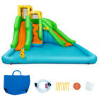 Kids Inflatable Water Park Bounce House Play w Climb Wall Splash Pool 2 Slides
