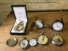 Joblot Vintage Antique Disney Pocket Watches Barn Find Spares Or Repairs Parts