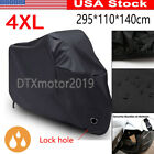 4XL Black Waterproof Motorcycle Cover For Victory Boardwalk Classic Cruiser 2013