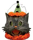 Bethany Lowe Halloween Sassy Cat Candy Container TJ8284 New