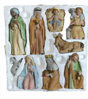 Vintage HOMCO 5599 9 piece Porcelain Christmas Nativity Set Home Interiors